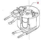 11011341 J-бойлер, 230 V, 1300 W, під хомут, проточний, однотеновий, Odea, Talea, Xsmall, фото 4