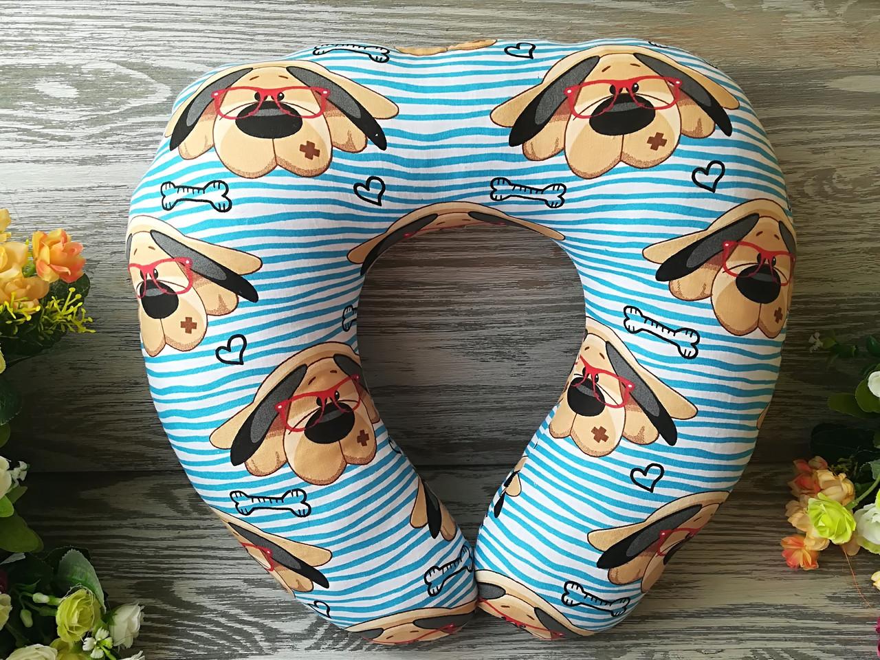 Автомобильная подушка собака в очках , 41 см * 34 см