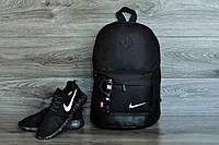 Стильный городской спортивный рюкзак NIKE, цвет черный