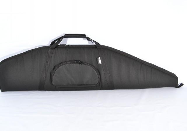 Чехол на ружье под оптику с карманом 1,25 м синтетический черный, фото 1
