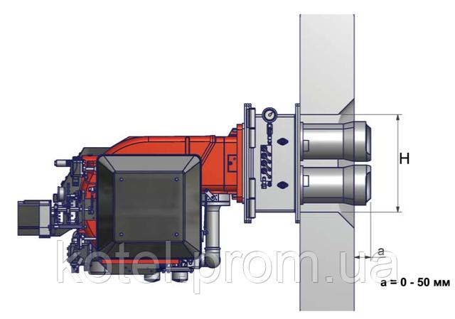 Схема установки газовой горелки Unigas VS на котел