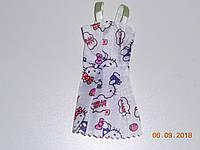 Летние платья для кукол типа Барби на рост 25 28 30 см в комплекте по 3 штуки.