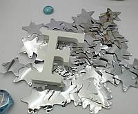 Конфетти для воздушных шаров звезды серебро 35 мм 50 грамм, фото 1