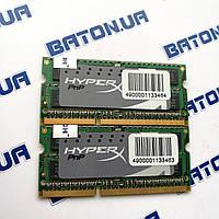 Оперативная память для ноутбука Kingston SODIMM DDR3 8Gb 1600MHz 12800s CL9 (KHX1600C9S3P1K2/8G), фото 1