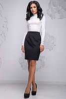 Прямая черная  юбка 2720, фото 1