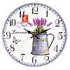 """Настенные часы в стиле прованс """"Букет лаванды"""" 34 см МДФ"""