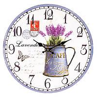 """Настенные часы в стиле прованс """"Букет лаванды"""" 34 см МДФ, фото 1"""