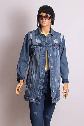 Куртка джинсовая женская ANOTHER RE-DRESS C036 MAVI DNM LONG