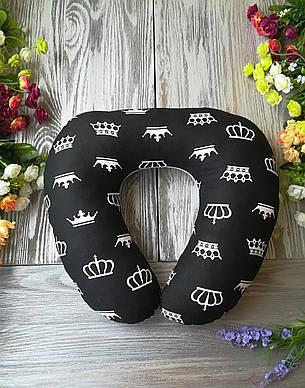 Дорожная подушка черно-белое королевство , 41 см * 34 см, фото 2