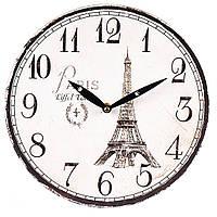 """Стильные часы на стену """"Эйфелева башня"""" 29 см МДФ, фото 1"""