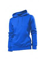 Женская кофта с капюшоном синий электрик, кенгуру Stedman - 02218