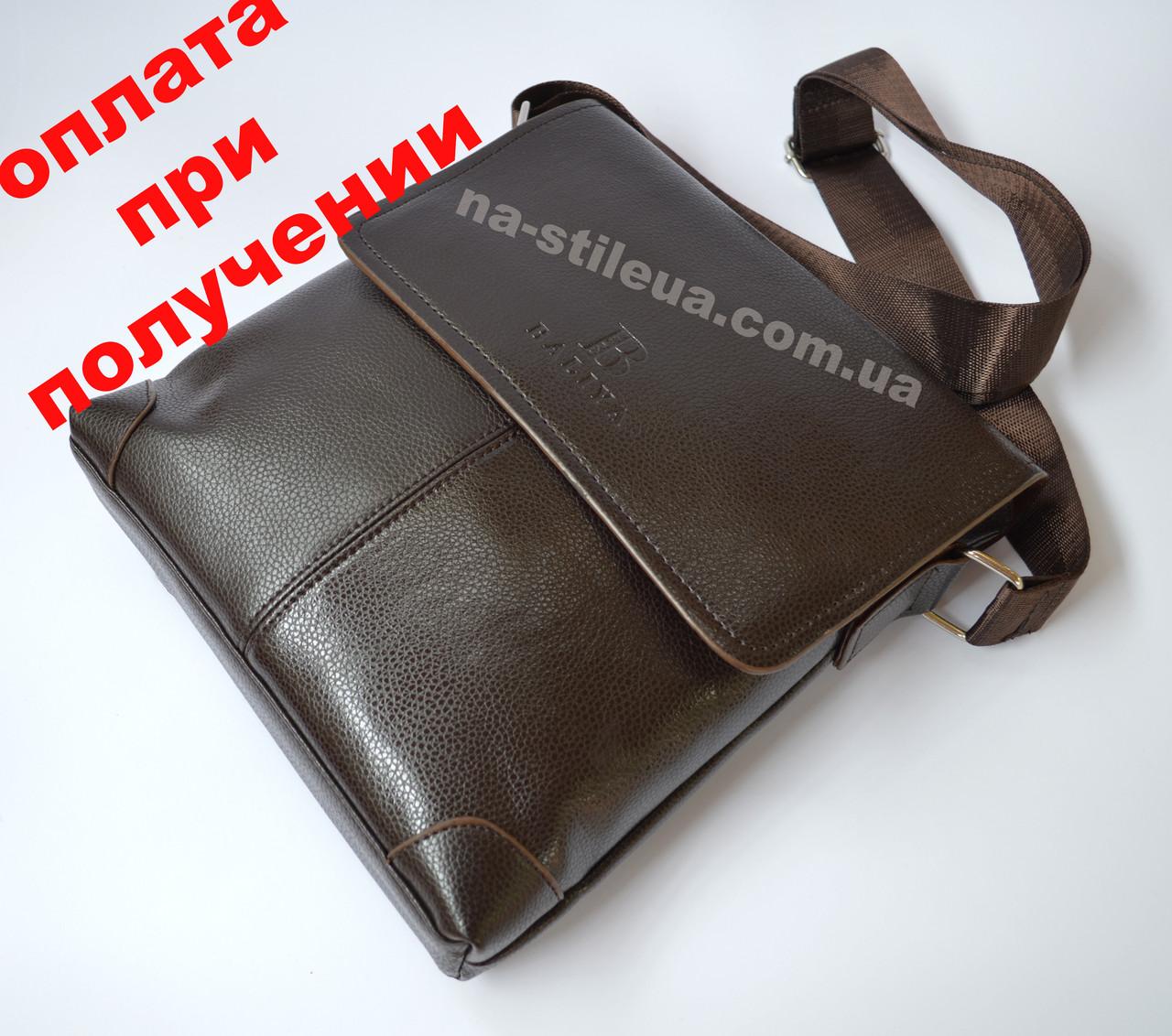Чоловіча шкіряна фірмова сумка барсетка BALIYA Polo класика купити