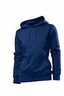 Женская кофта с капюшоном темно-синяя, кенгуру Stedman - 02219