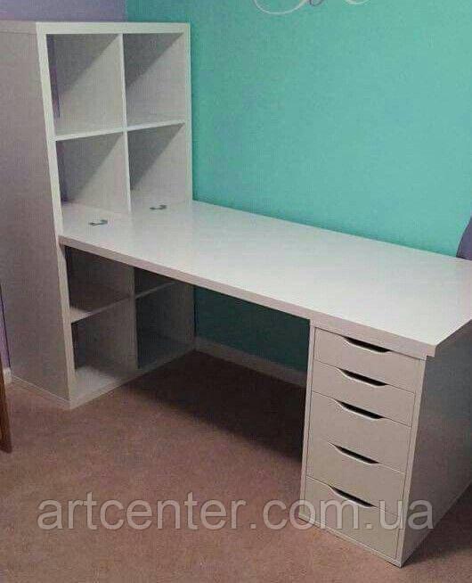 Манікюрний стіл з вбудованою етажеркою, манікюрний стіл