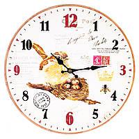 """Настенные часы """"Птичье гнёздышко"""" 34 см МДФ, фото 1"""