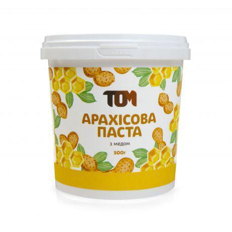 Арахисовая паста ТОМ - С медом (500 гр)