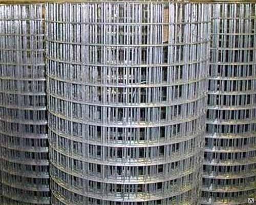 Сварная оцинкованная сетка для клеток 50*50*1,6 ширина 1м