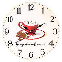"""Настенные часы """"Ароматный напиток"""" 34 см МДФ, фото 1"""