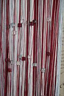 Шторы Нити радуга, Кисея стекло рад № 147