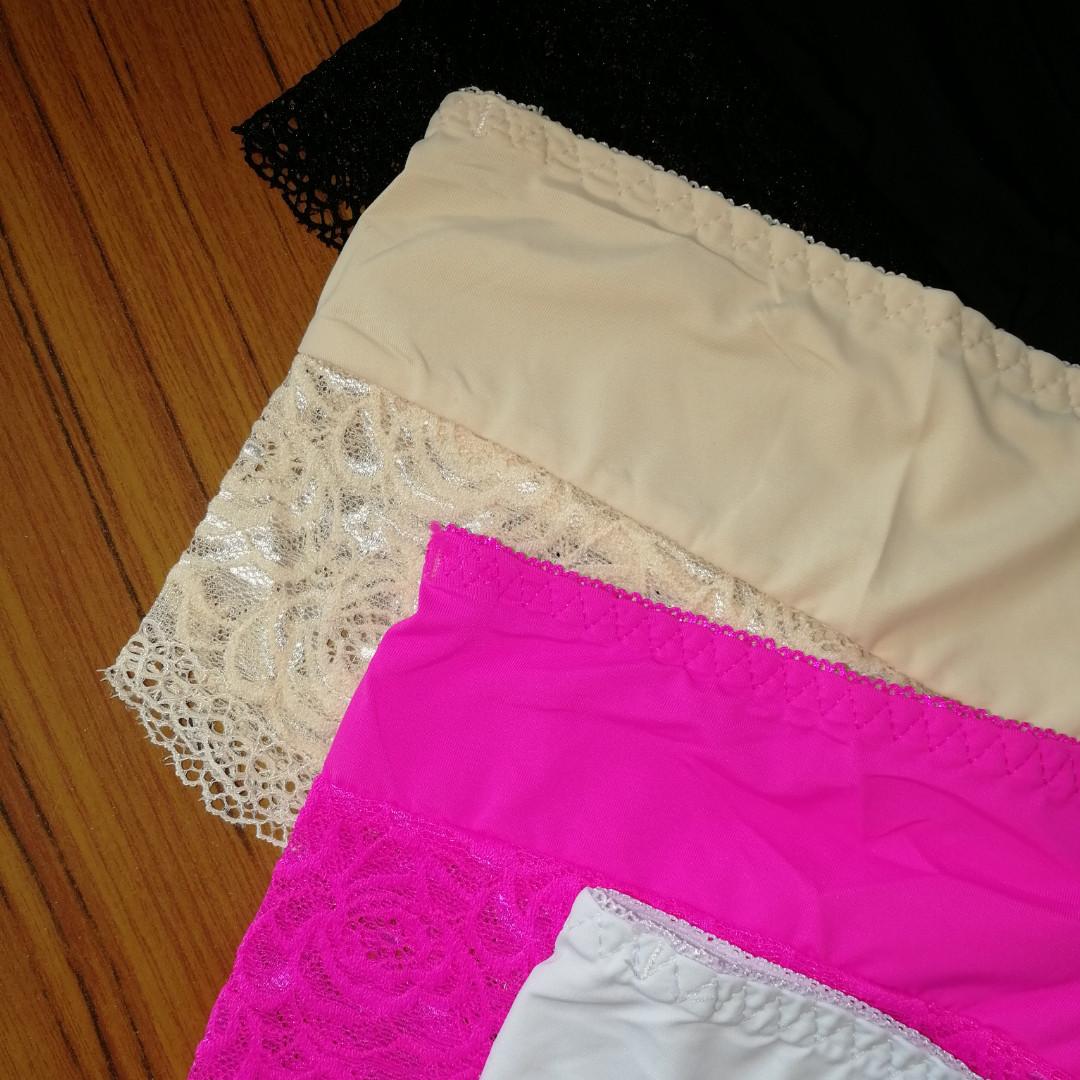 Трусики-шорты розовые, микрофибра с мягким гипюром под Victoria's Secrets