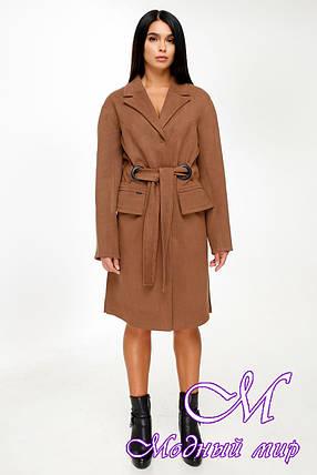 Женское демисезонное пальто (р. 44-54) арт. 1016 Тон 4, фото 2