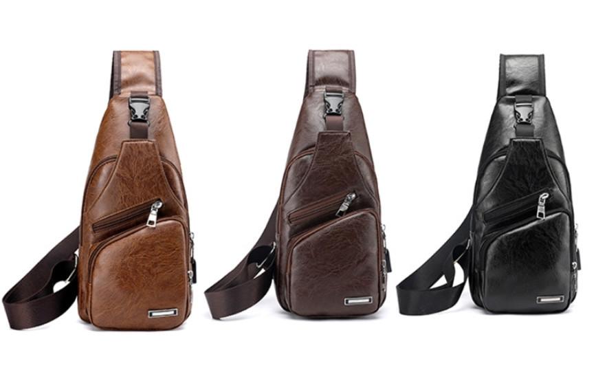 3a9c7fec8a3f Мужская чоловіча спортивная кожаная натуральная сумка слинг рюкзак бананка,  ...