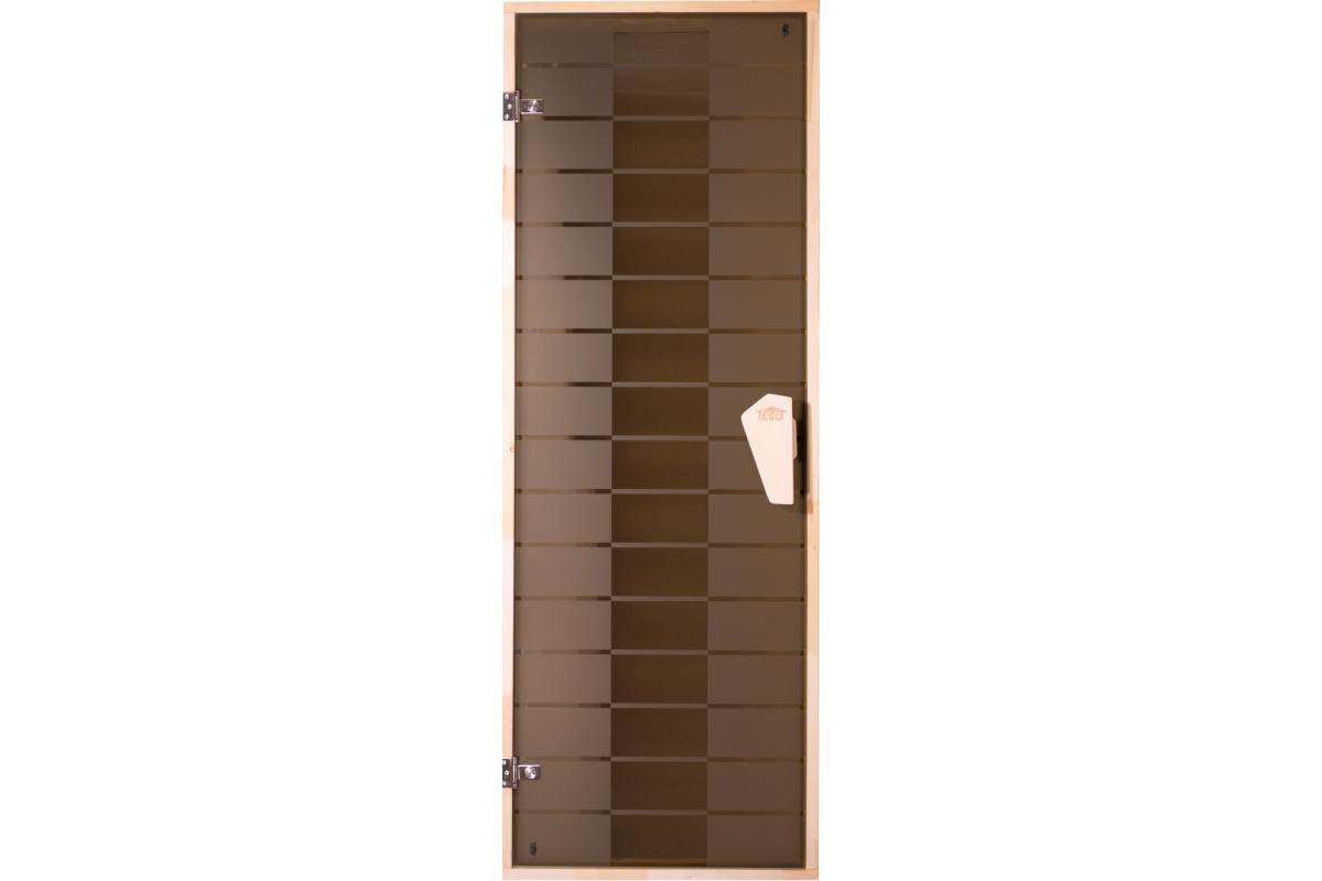 Дверь Tesli DC — Plaza (матовая с рисунком) 1900*700