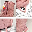 Рюкзак вельветовый пыльно розовый, фото 6