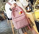 Рюкзак вельветовый пыльно розовый, фото 4