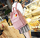 Рюкзак вельветовый пыльно розовый, фото 5