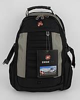 Рюкзак городской SG 1419 черный с серым, выход для USB, наушников, фото 1