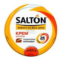 Крем для обуви SALTON для гладкой кожи, с норковым маслом, коричневый 50мл