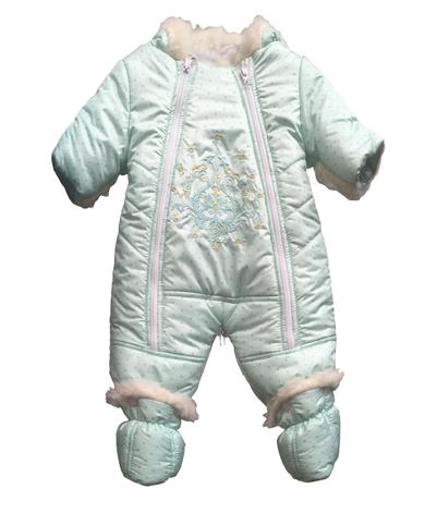 Зимний детский принтованный комбинезон, фото 2