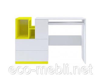Стіл письмовий Мобі BIU/130 німфея альба / жовтий