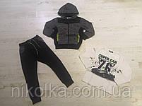 Трикотажный костюм-тройка с начесом для мальчика оптом, Seagull, 4-12 лет, арт. CSQ-67083, фото 2