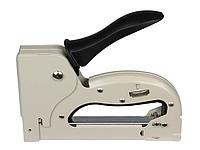 Степлер рессорный ПРОФИ для скобы 4-14 мм 11,3*0,7 мм, плавная регулировка силы удара, корпус металл