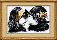 """Набор для рисования камнями (холст) """"Очаровательная парочка"""" LasKo TL019 (50,5х33 см)"""