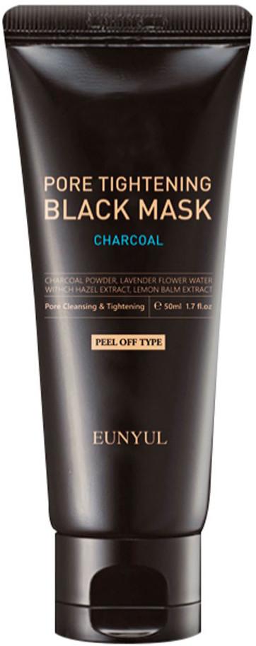 Маска-пленка для сужения и чистки пор с древесным углем EUNYUL Pore Tightening Black Mask - 50 мл