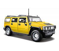 Maisto Автомодель (1:27) 2003 Hummer H2 SUV жёлтый Maisto