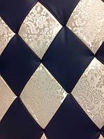 """Мягкая плитка для стен """"Арлекин"""", декоративные панели из кожи,ткани"""