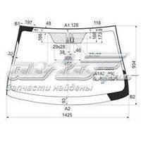 Лобовое стекло ( LEXUS GS 250/350/450 сед 2013-up(ГИБРИД) обогрев,консоль,место под 2 датчика,VIN-окно