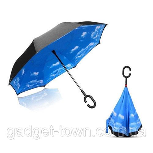 Зонт навпаки з ручкою гак El 8882