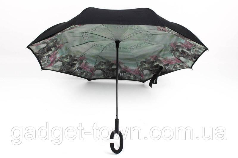 Зонт навпаки з ручкою гак El 8886