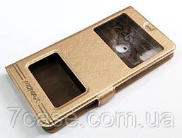 Чехол книжка с окошками momax для Xiaomi Mi 8 SE золотой