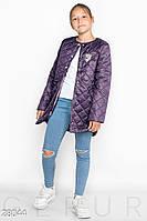 Куртка детская из стеганной плащевки без воротника (5 цветов) - Фиолетовый KL/-30028