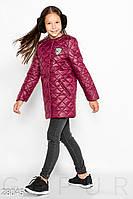 Куртка детская из стеганной плащевки без воротника (5 цветов) - Бордовый KL/-30028