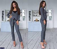 Женский костюм тройка с брюками RINA  цвет Cерый