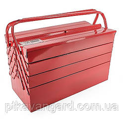 Ящик для инструмента металлический 450 мм, 7 секций INTERTOOL HT-5047