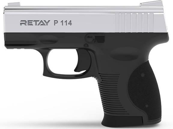 Стартовый пистолет Retay P 114 Nickel , фото 2