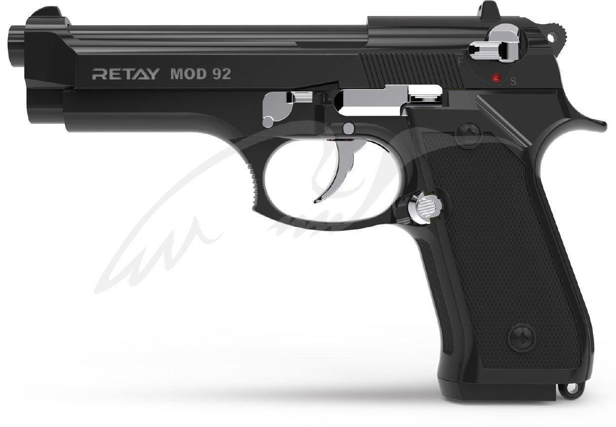 Стартовый пистолет Retay Mod 92 black/nickel